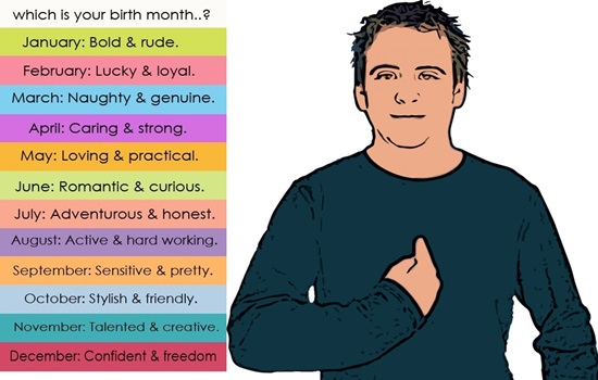 How your birth month can affect your personality