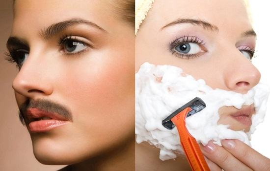 Facial hair removal in women