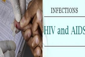 How can a person be infected with AIDS?