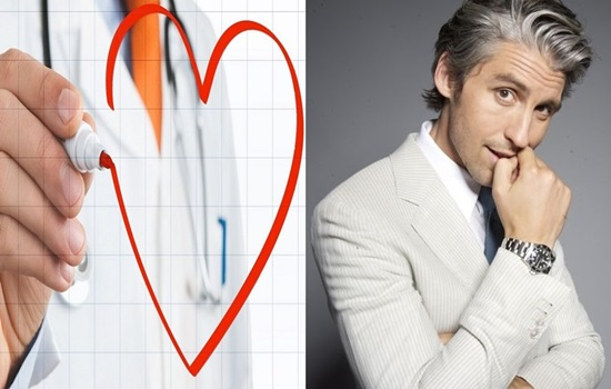 Heart diseases risk in men connected with grey hair