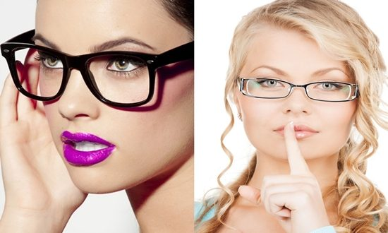 Wearing make up with glasses