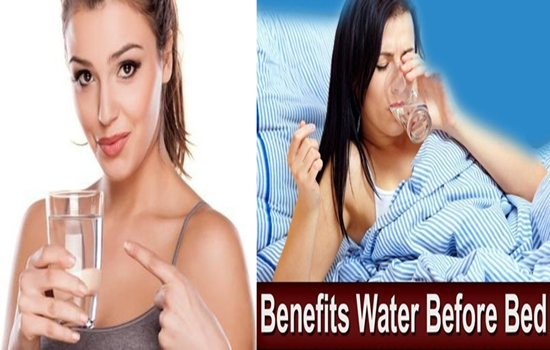 What are the benefits of drinking water before sleeping