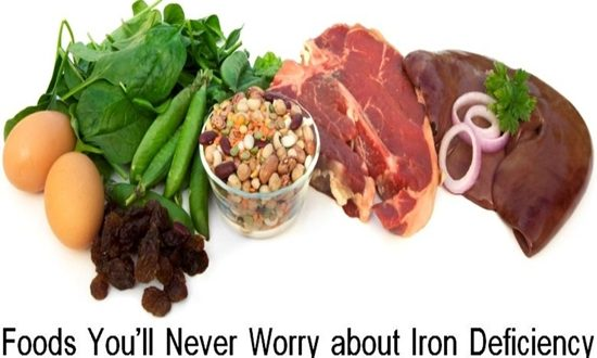Foods You'll Never Worry about Iron Deficiency