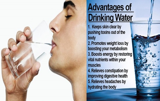 5 Health Benefits of Drinking Water