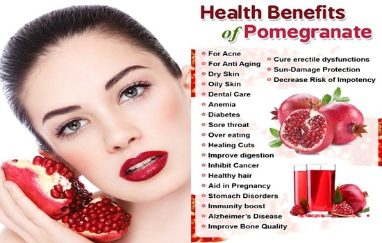 5 Health Benefits of Pomegranate