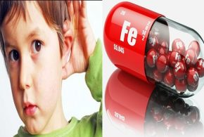Hearing loss associated with iron deficiency