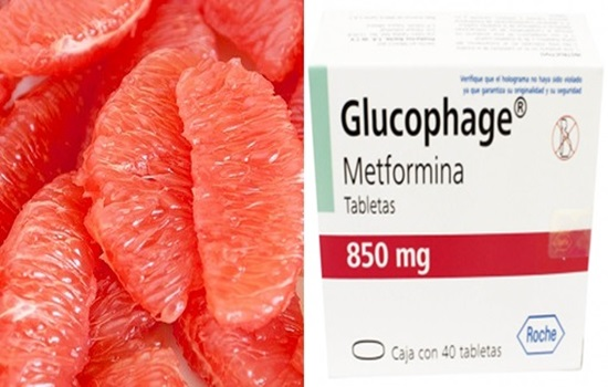 The Interaction Between Grapefruit and Metformin (antidiabetic).