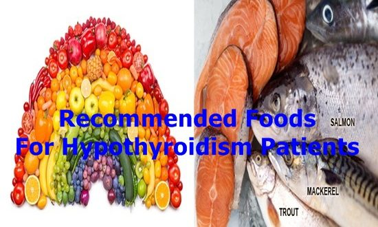 Recommended Foods For Hypothyroidism Patients